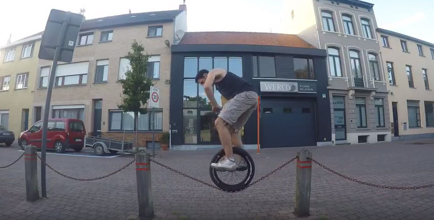 Tim Desmet – Unicycling 2016